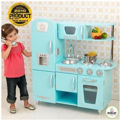 kidkraft vintage kitchen in blue best wooden play kitchens 2016 rh pinterest co uk