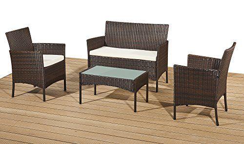 Rattan Garden Furniture Set Patio Conservatory Indoor Outdoor 4