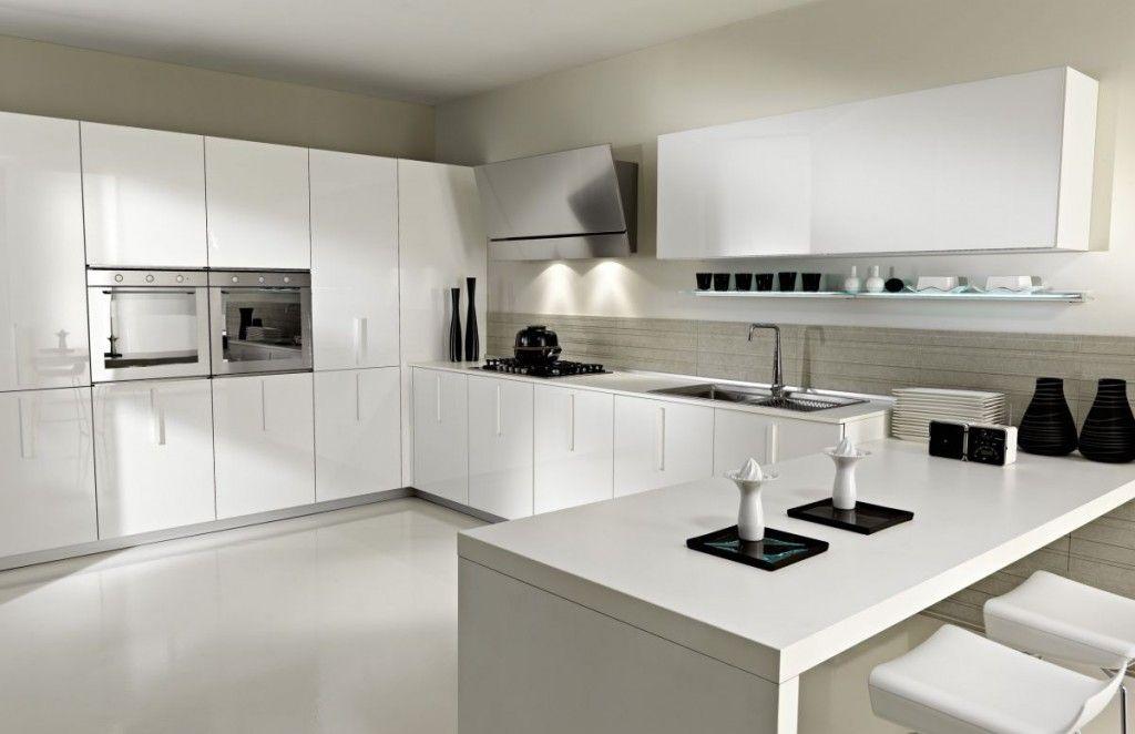 White With Black Accessories  Extreme Awwww  Pinterest  Kitchen Best Kitchen Designs Modern Inspiration Design
