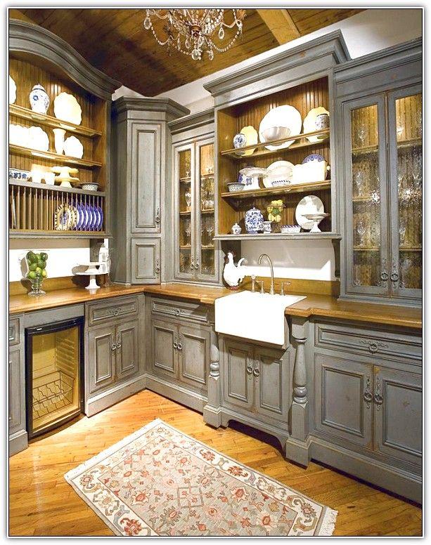 image result for upper corner kitchen cabinet ideas rustic kitchen cabinets grey kitchen on kitchen cabinets organization layout id=20423