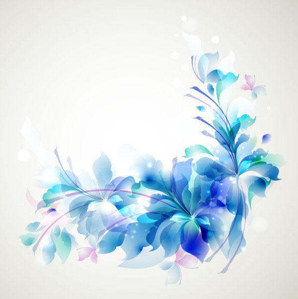Blue Color Lily Flower Background Vector 03 Blue Flowers Background Flower Background Images Abstract Flowers