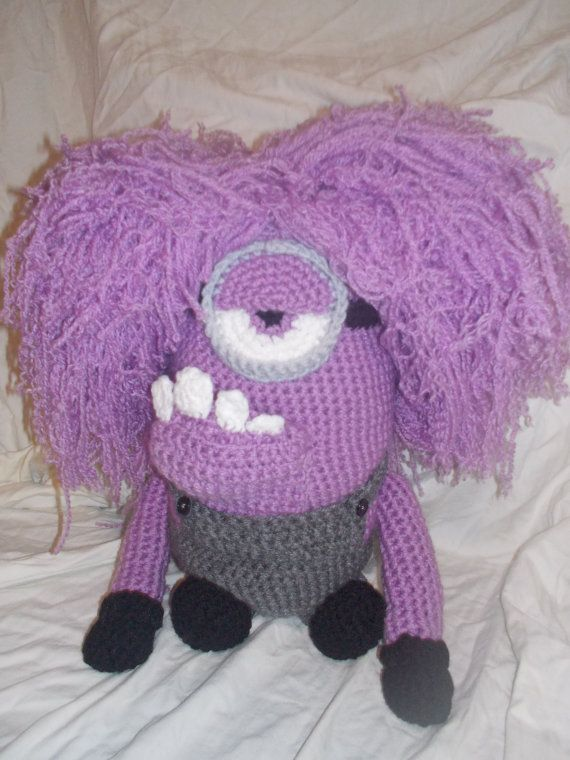 Purple Minion Despicable Me Amigurumi by StephanieTwistedYarn ...