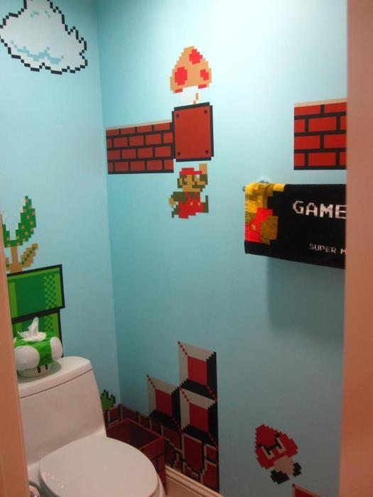 Toilettes Geek Super Mario Toilettes Geek WC Toilettes Toilette Super Mario  Photo Lego Image Dark Vador. Kid BathroomsBathrooms DecorBathroom ...