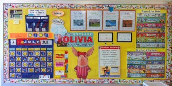 Interactive Calendar Ideas : My daily interactive calendar circle time bulletin board
