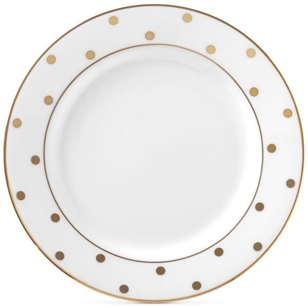 Kate Spade New York Larabee Road Gold Bone China Butter Plate Found On  Polyvore Featuring Home, Kitchen U0026 Dining, Dinnerware, White, Kate Spade  Dinnerware, ...