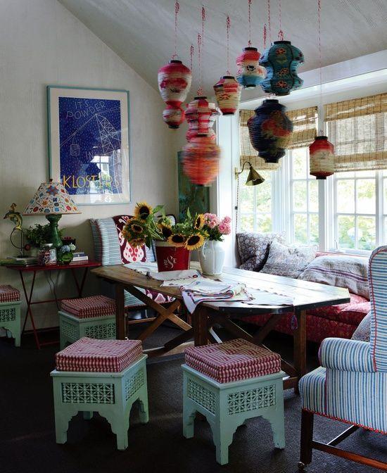 Original boho chic dining room designs living room for Dining room ideas bohemian