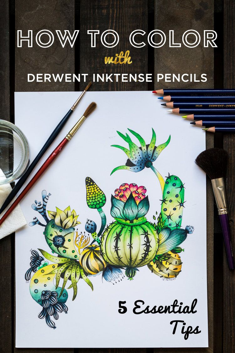How To Use Derwent Inktense 5 Tips And A Tutorial