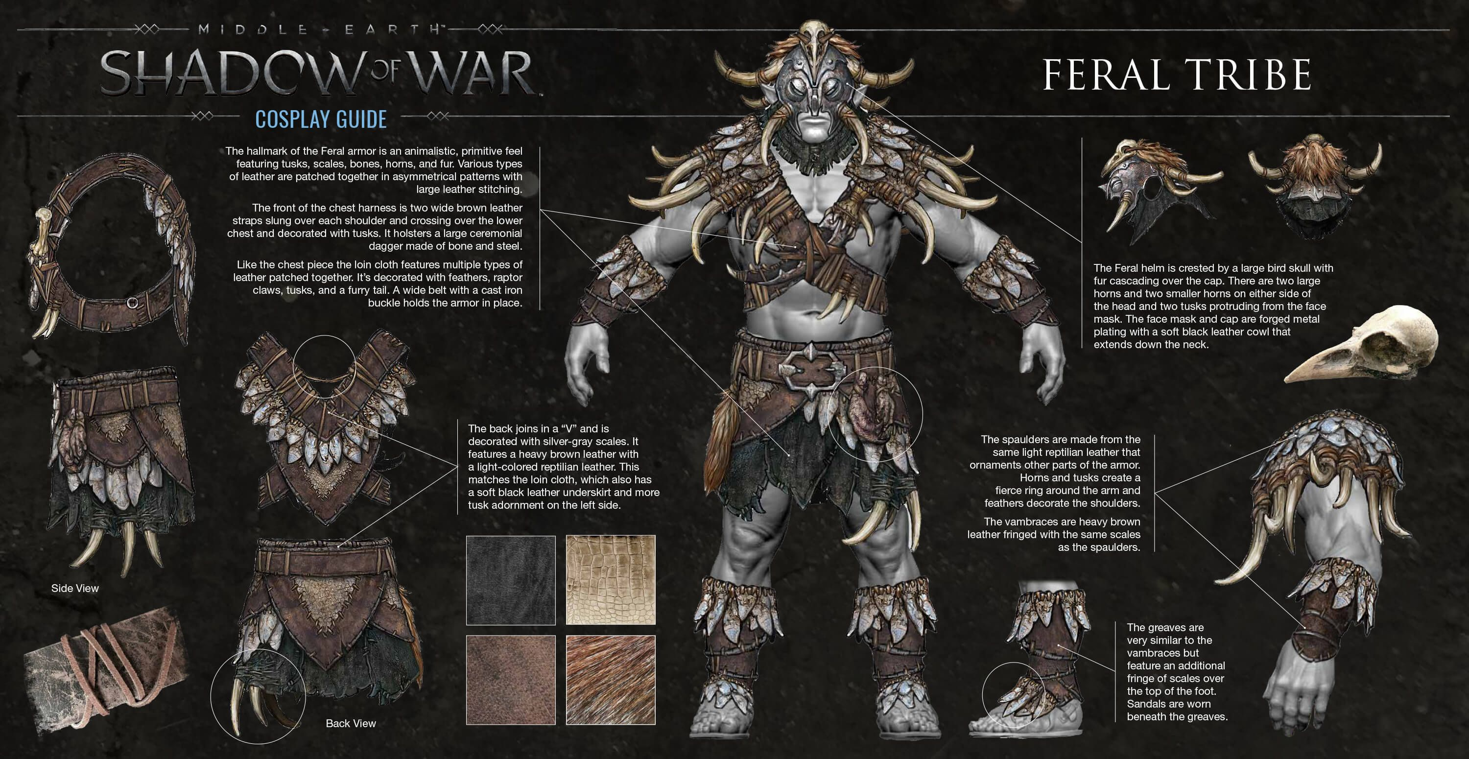 SHADOW OF WAR All 7 Orc Tribes Armor Sets Appearance Revealed