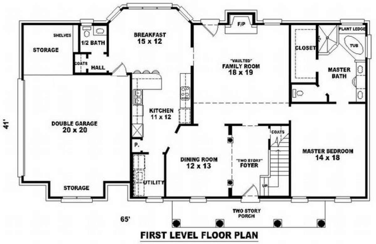 Colonial House Plan 053