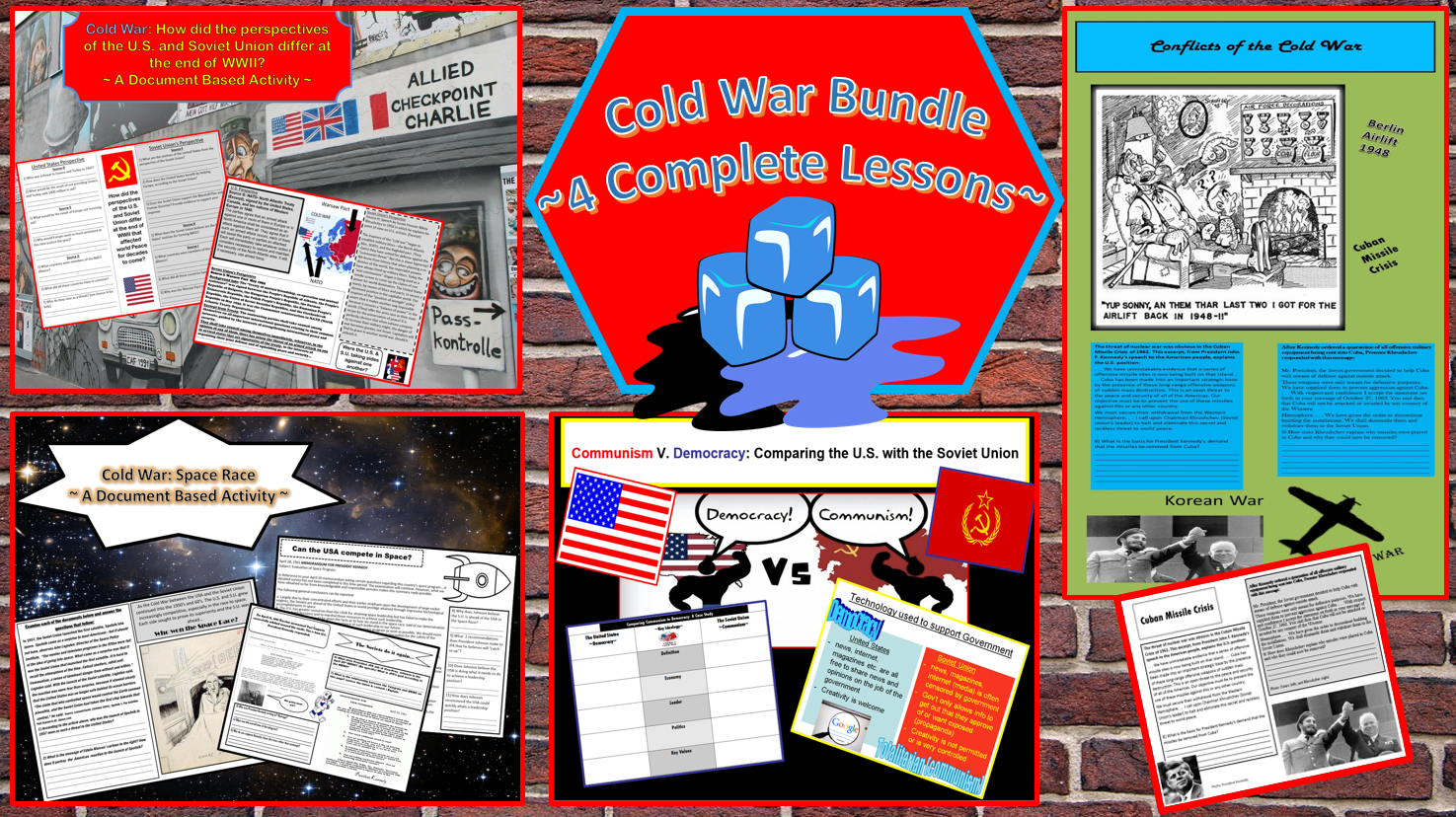 cold war bundle ~4 complete lessons on the cold war student 4 cold war lessons resources