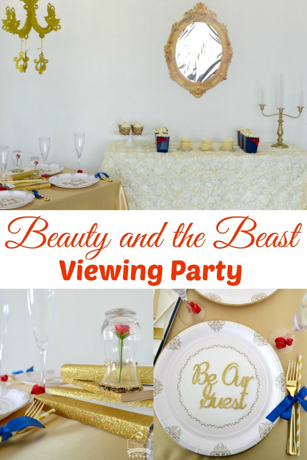 This Beauty and the Beast movie viewing party has some great budget ...