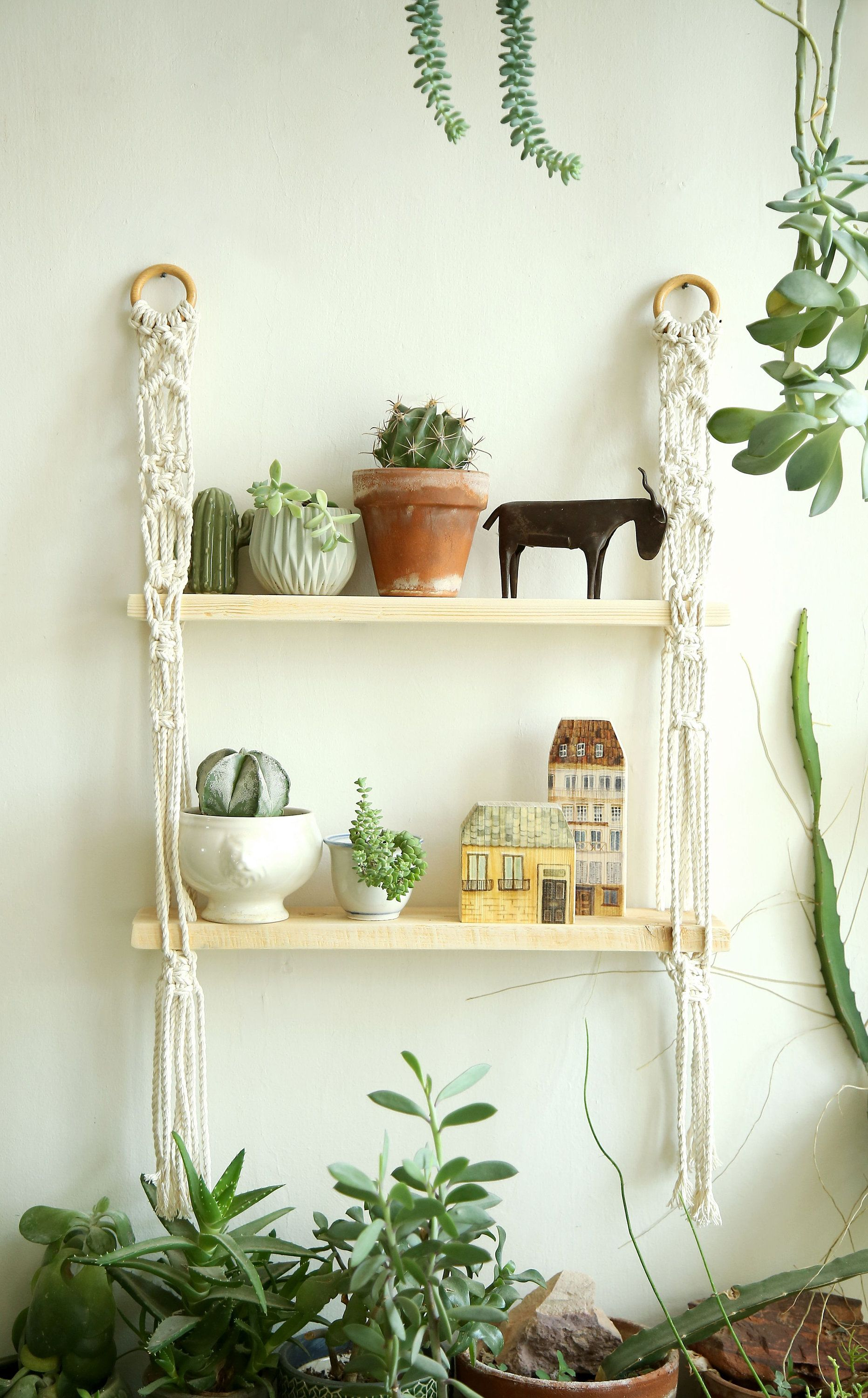 Macrame shelf, Macrame Wall Hanging Shelf , Shelf, Modern ...