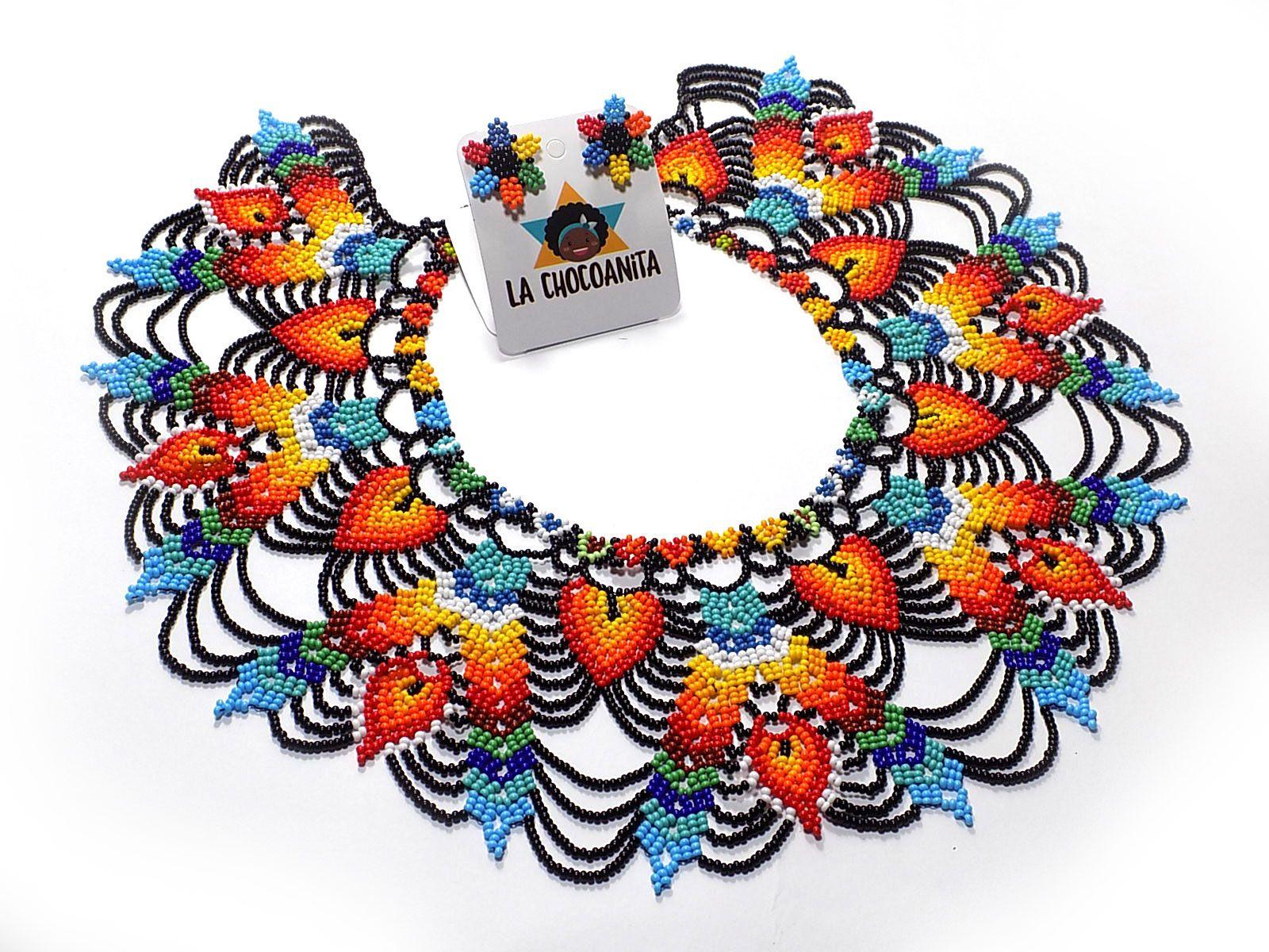 247aa723421e Collar Puntas V Collar en mostacilla checa