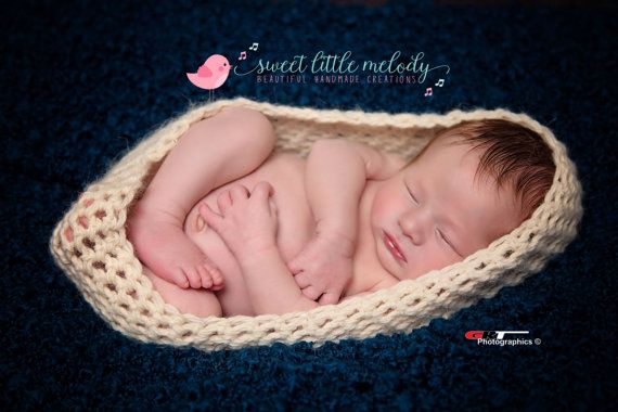 Newborn Nest Prop Cocoon Pod Photo Prop Baby by SweetLittleMelody