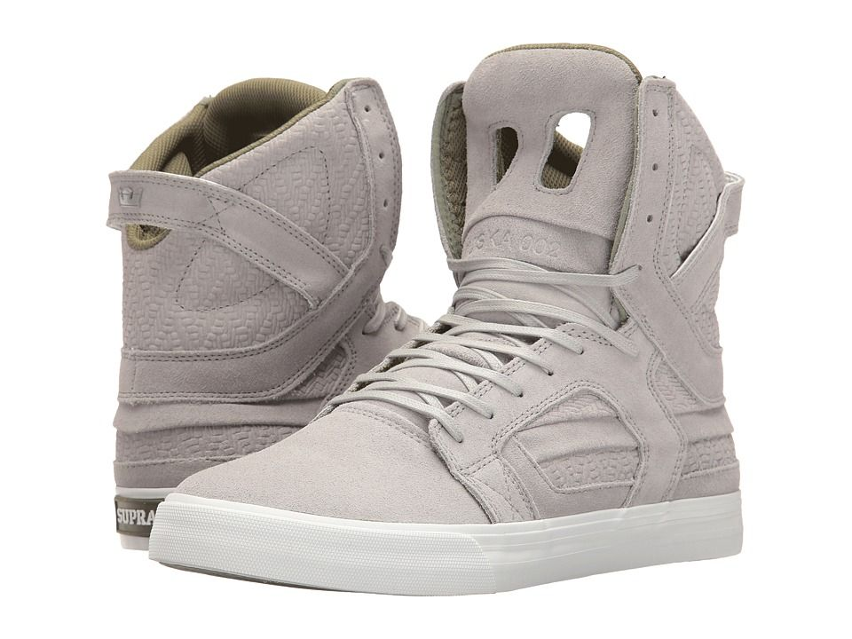 SUPRA SUPRA - SKYTOP II (LIGHT GREY/OLIVE/WHITE) MEN'S SKATE SHOES