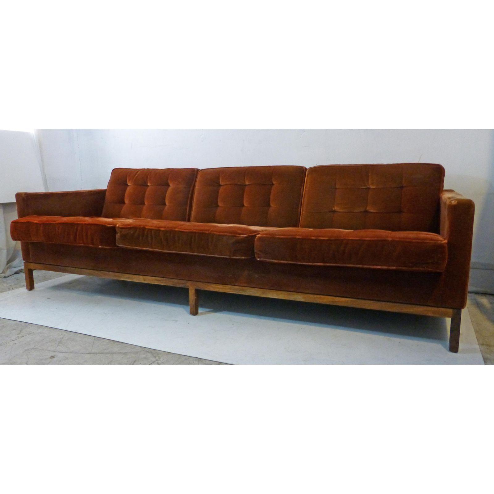 Image Of Vintage Florence Knoll Rosewood Base U0026 Mohair Sofa
