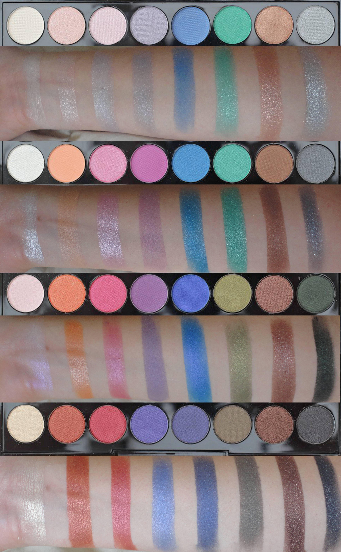 Makeup Revolution Mermaids Forever Palette Swatches Make