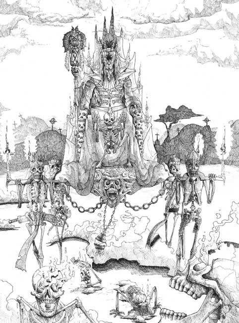 Enter the Necromancer - Álvaro Peñalver - #ProyectoGolem - Ilustradores de #Fantasía