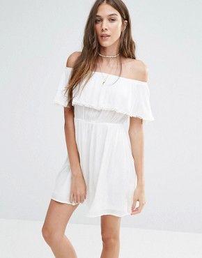 Robe courte blanche pimkie