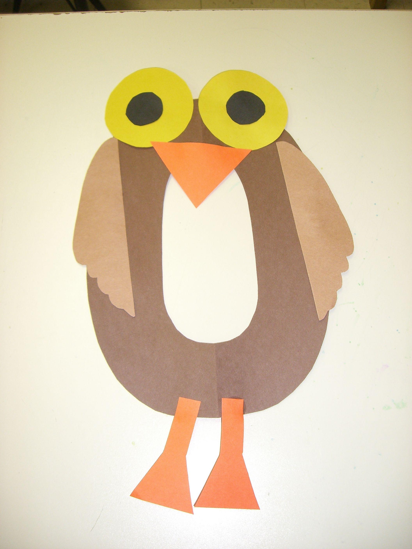 O Is For Owl Preschool Alphabet Craft