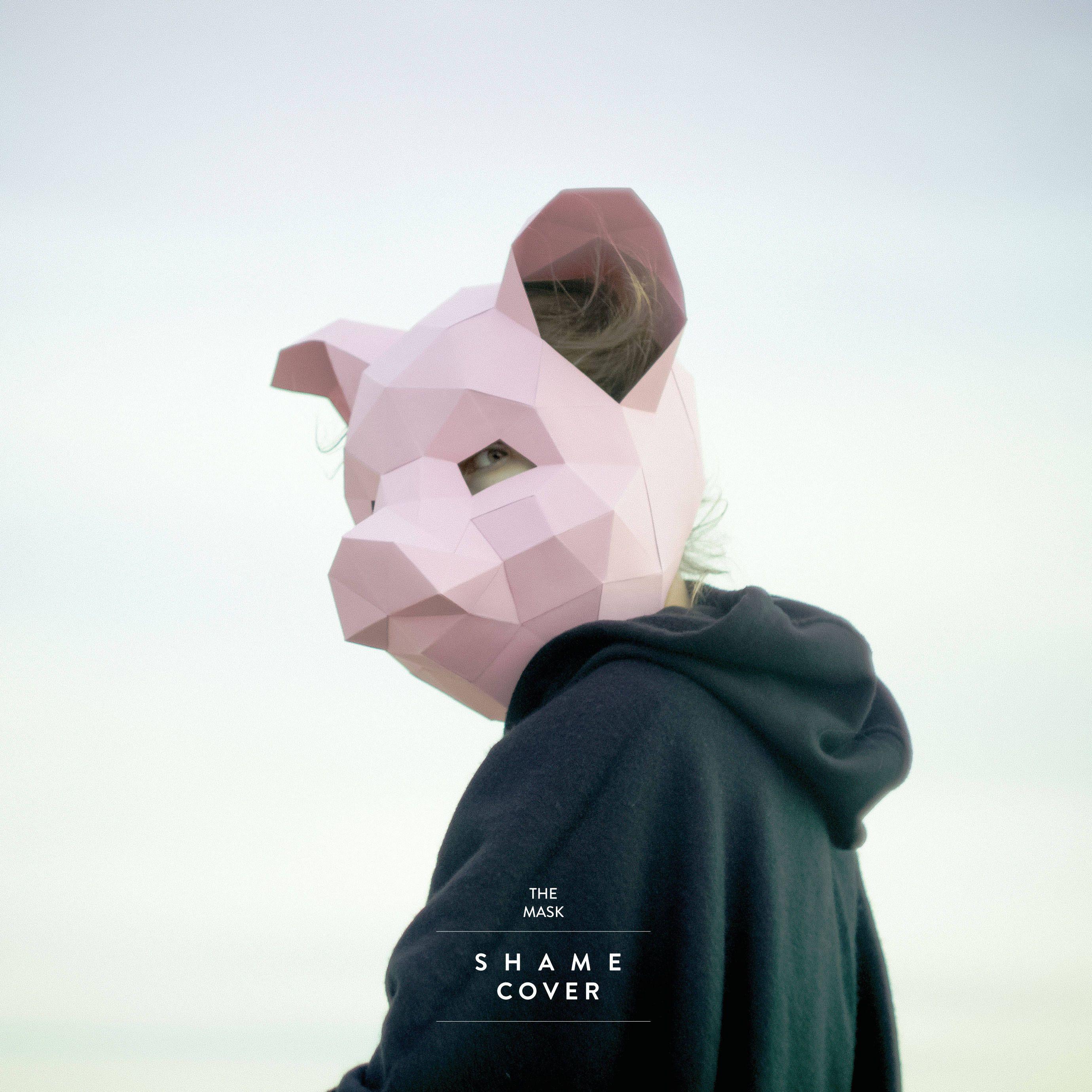 Pig Mask DIY 3Dmask PDF Polygon Paper Mask Halloween Mask Template