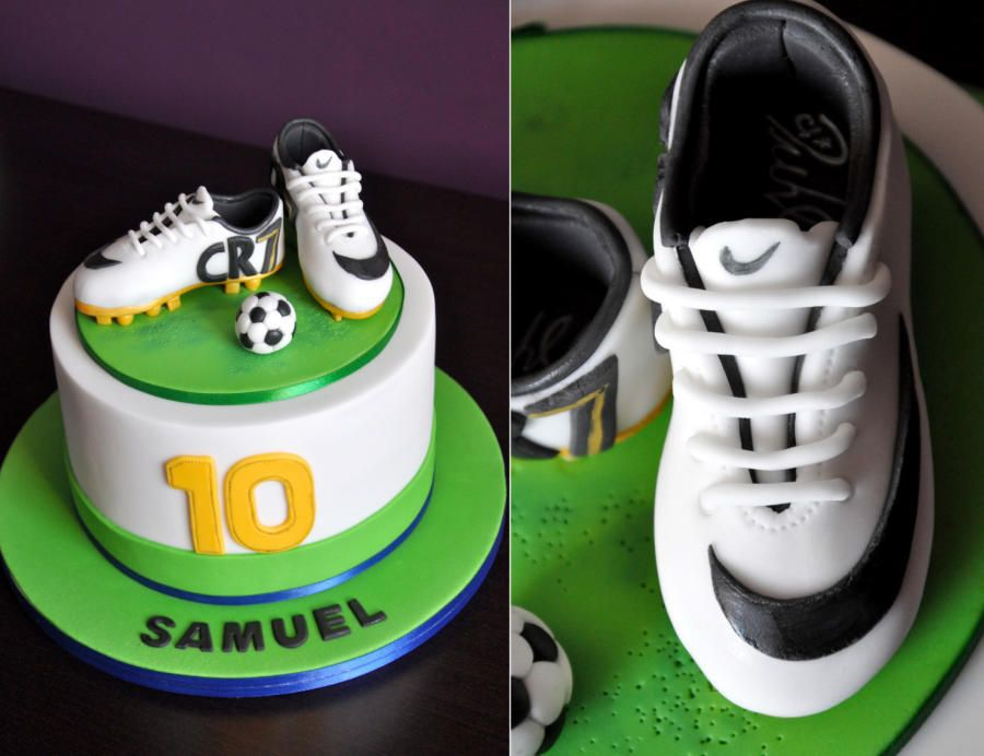 How To Make A Football Boot Out Of Cake