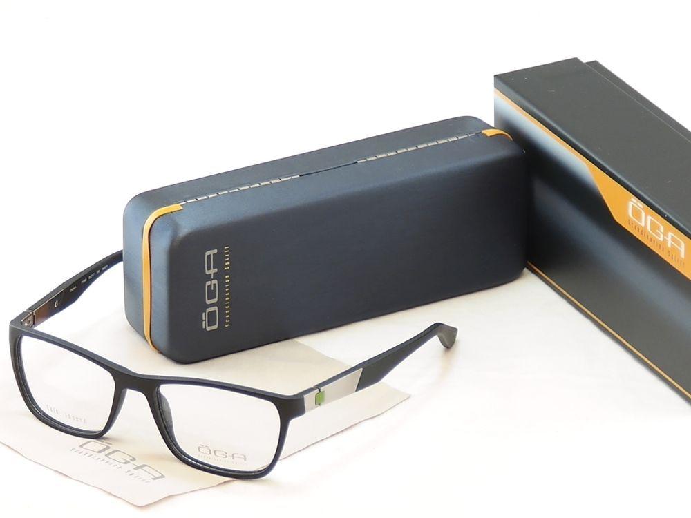 2cb52be09b0 OGA Morel Eyeglasses Frame 71950 NG011 Matt Black Plastic France Made  53-17-135  OGA