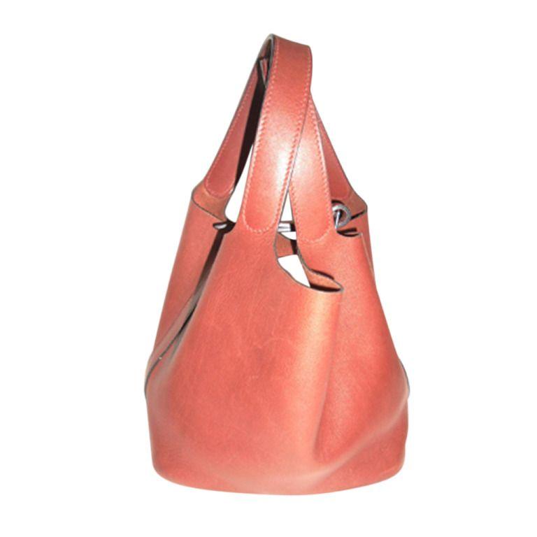 90f1a0c75104 1stdibs.com | Hermes Cognac Leather Picotin Bag | hand bags ...