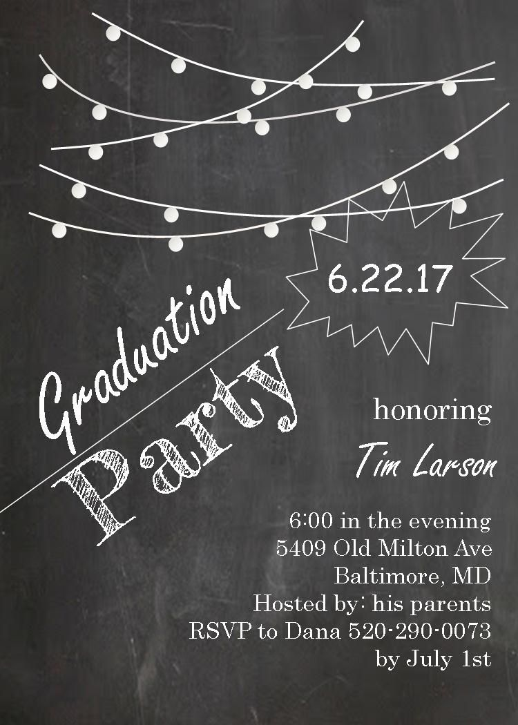 Graduation Party Invitations ~ High school or college Graduation ...