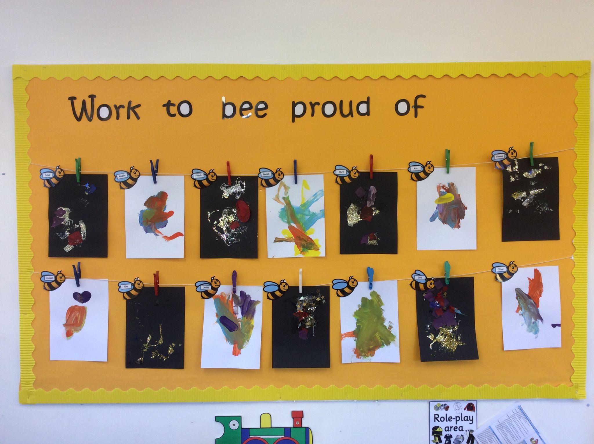 Bees Classroom Children S Work Display Classroom Wall