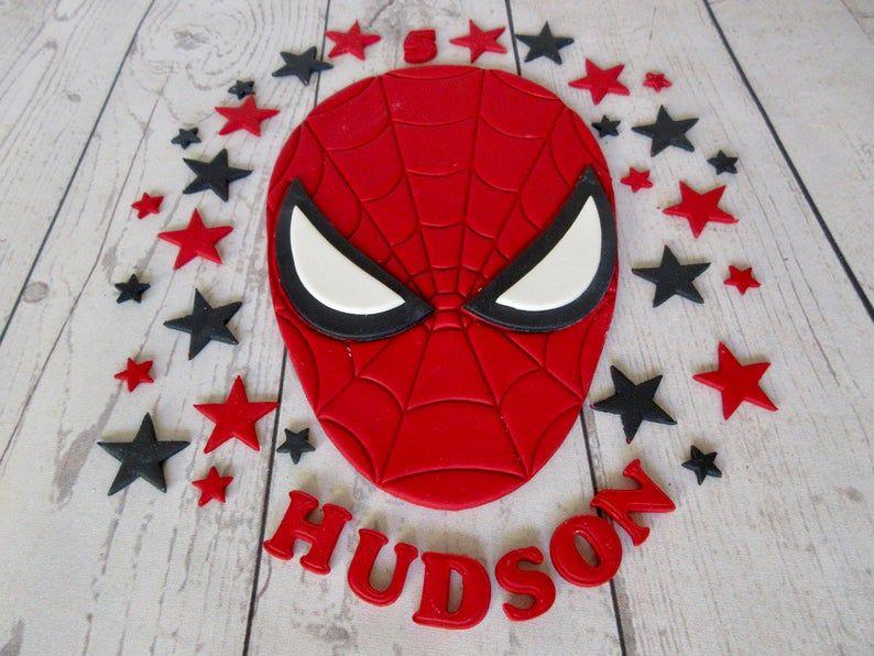 Edible SpiderMan. Personalised SpiderMan. Fondant Etsy