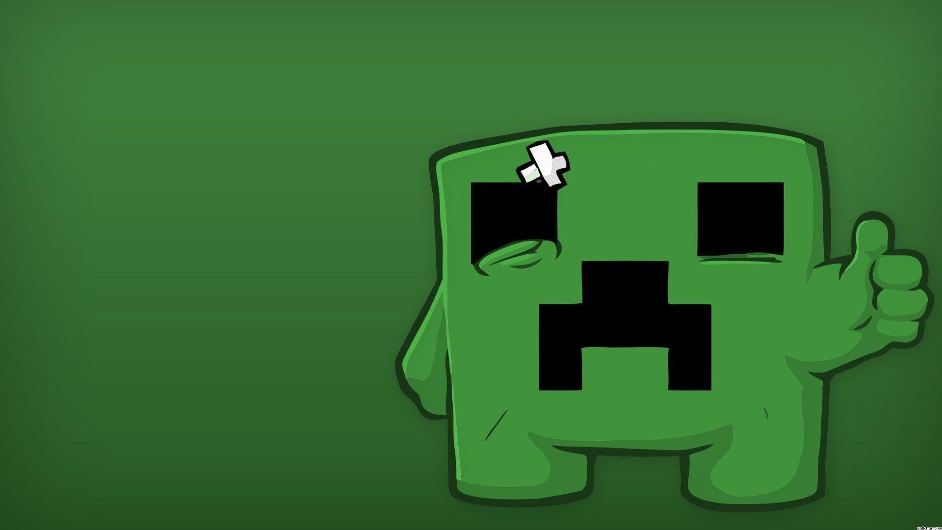 Minecraft Meatboy Creeper Wallpaper