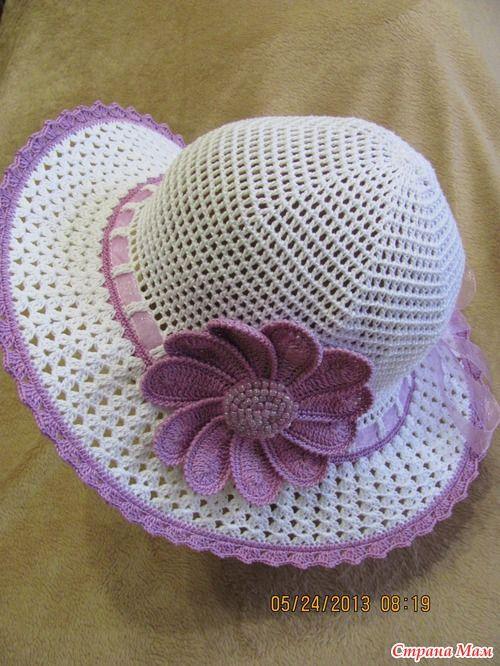 Шляпка летняя с цветком | Детские шапочки | Pinterest | Las flores ...