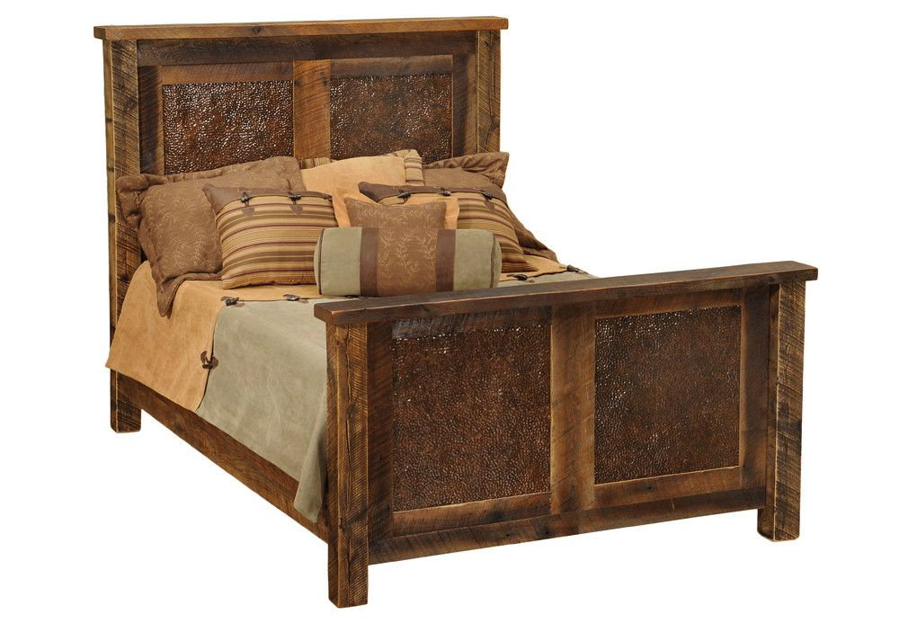 barnwood standard bed with images  rustic bedroom