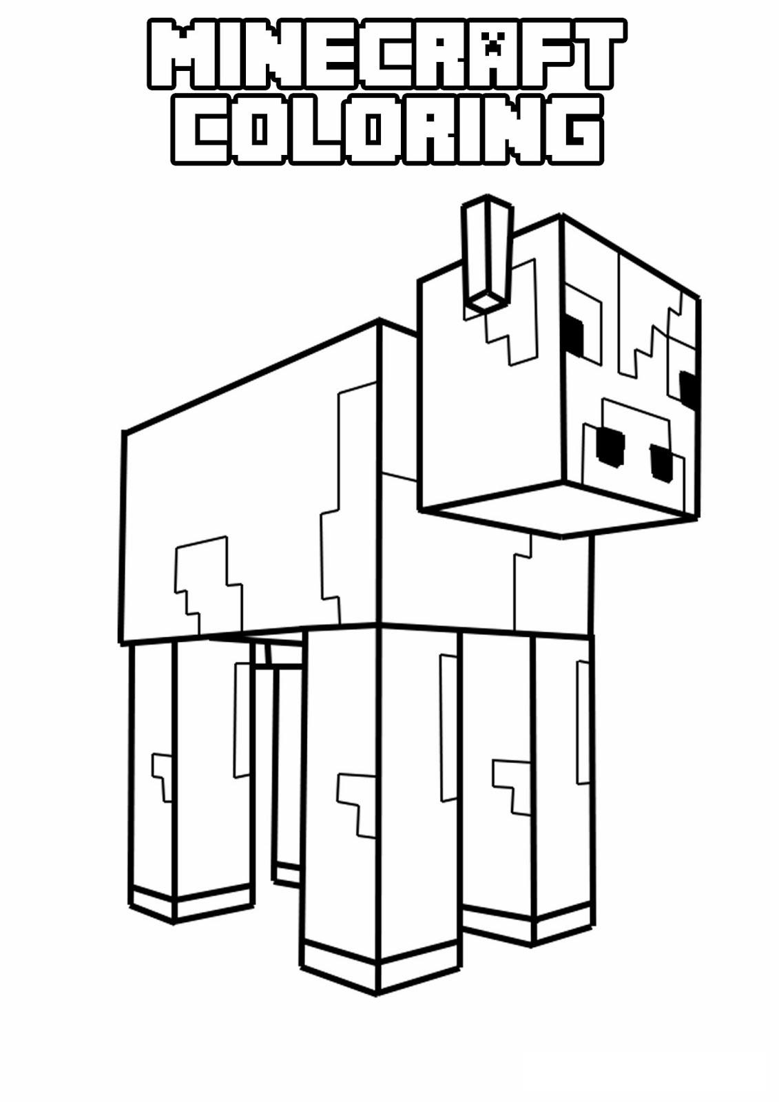 Pin By Endermanik123 On Minecraft Minecraft Coloring Pages Cow Coloring Pages Minecraft Printables