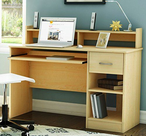 South Shore Small Desk In Amazing Natural Maple Finish