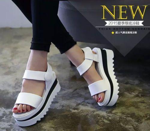 Women S Shoes Fashion Sandals Thick Bottom Leisure Rome Wedge Heels Korean Korean Shoes Fashion Sandals Womens Fashion Shoes