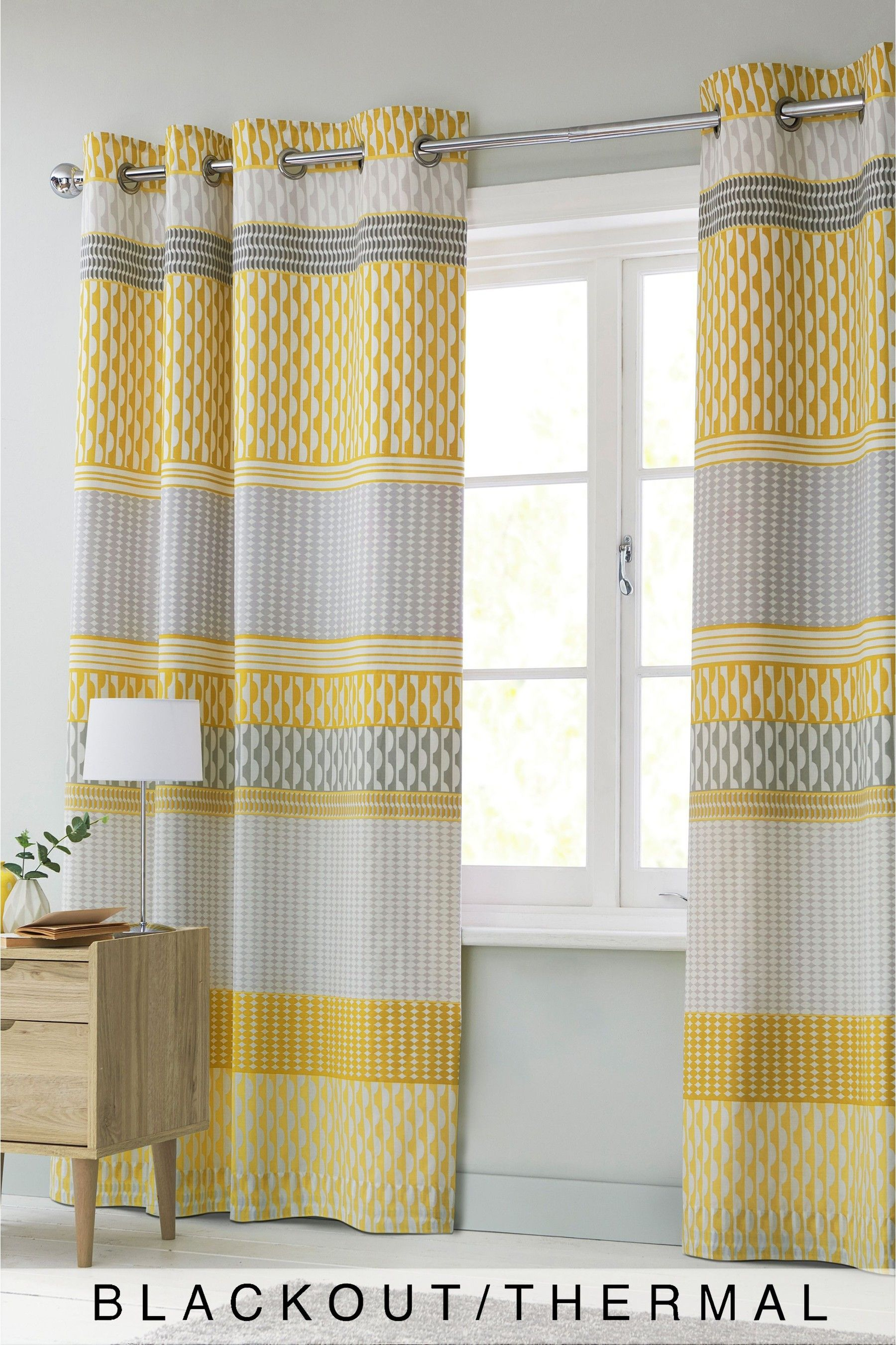 Mini Geo Stripe Curtains Thermal Curtains Home Curtains Curtains