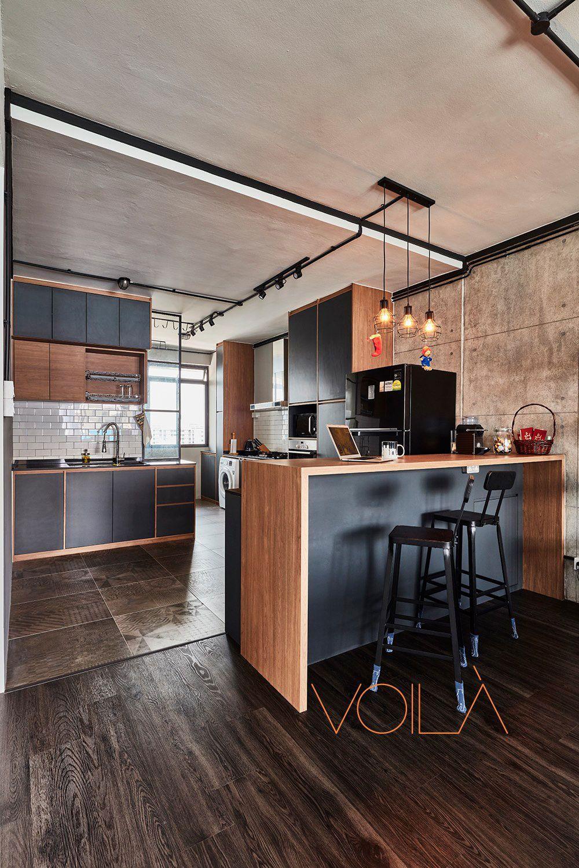 Virtual Kitchen Design Hdb Singapore: 8 Ways To Do A Semi-Open Kitchen In Your HDB