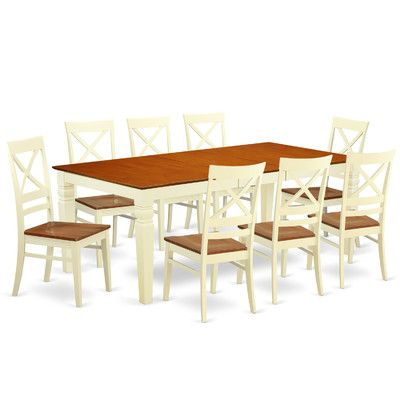 Darby Home Co Beesley 9 Piece Rectangular Dining Set Chair Finish