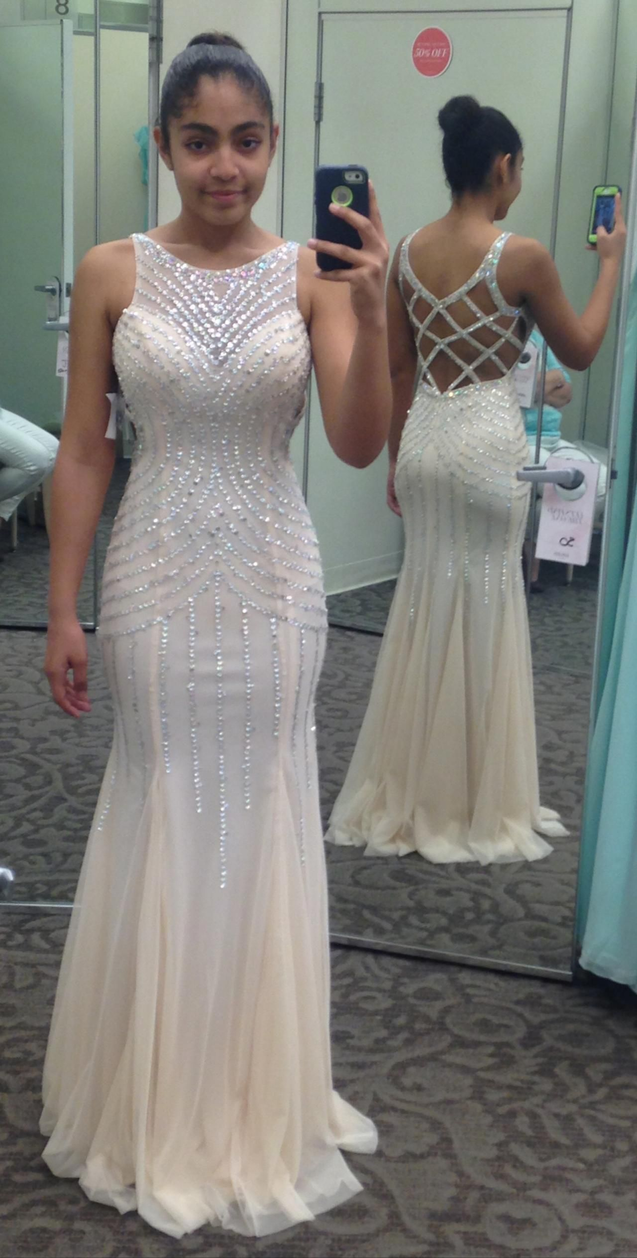 Beaded sleeveless mermaid prom dress formal gown white mermaid