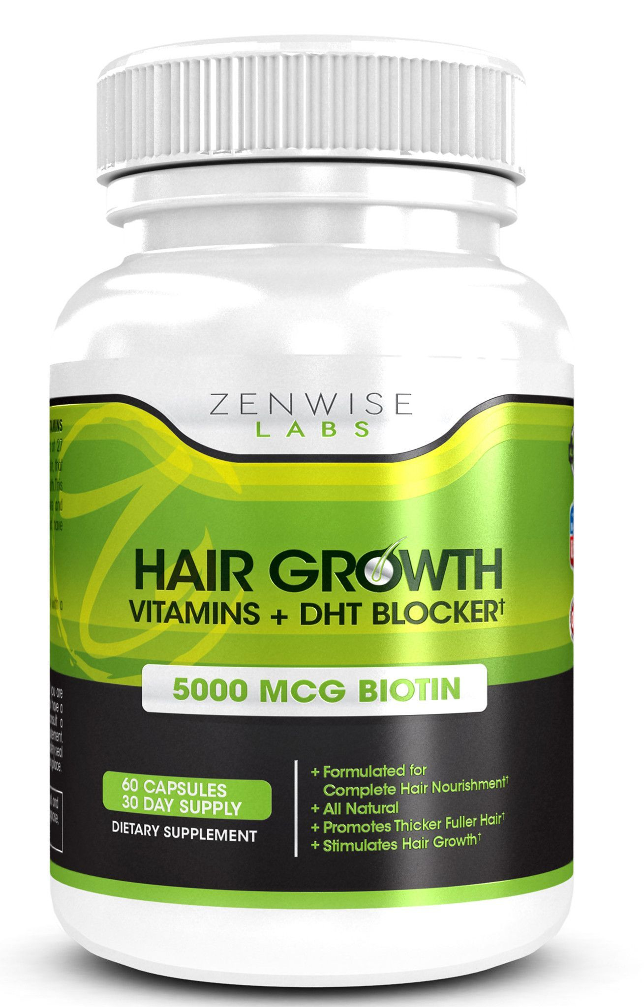 Daily Hair Growth Vitamins with DHT Blocker ct  Hair growth