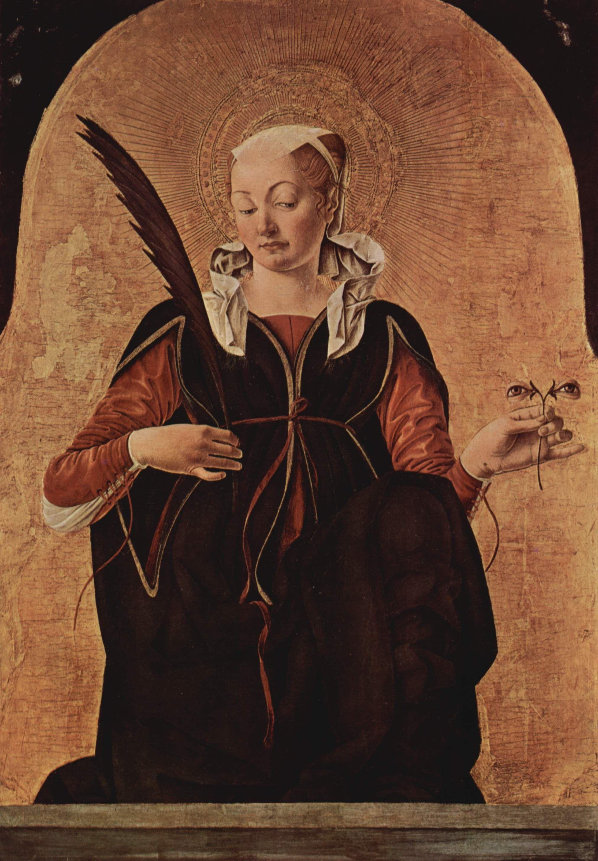 Saint Lucy Catholic Mug Religious Virgin