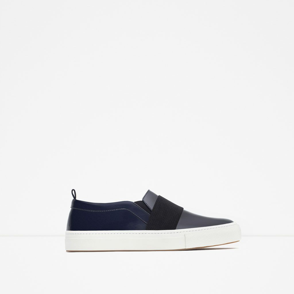 sconto in vendita metà fuori massima qualità ZARA - WOMAN - FLAT SNEAKER WITH ELASTICS | Zara sneakers, Zara ...