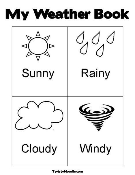 Coloring Pages For Weather on a budget
