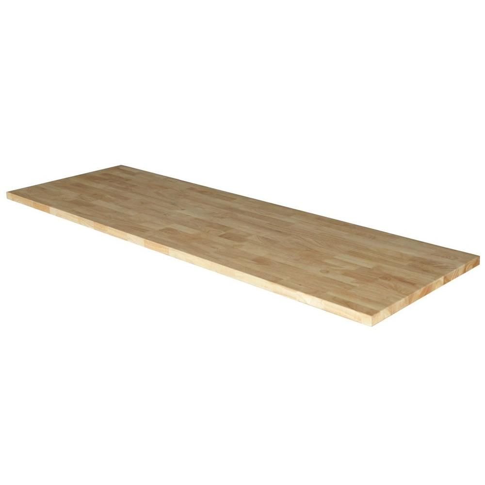 Husky 72 In Solid Wood Top For 6 Ft Solid Wood Top