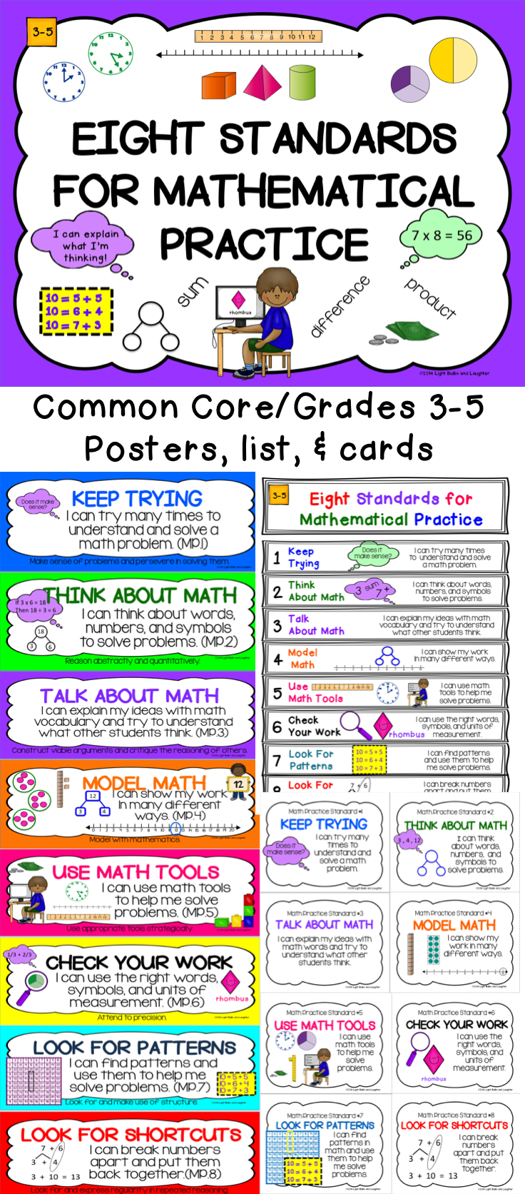 Eight Mathematical Practice Standards - Common Core - Adapted for ...