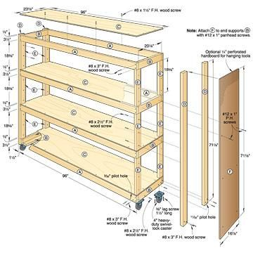 Free Plans To Build Garage Shelving Using Only Http Kkeeyy 2017 01 Storage  Shelf For L. Homemade Garage Cabinet Plans   MF Cabinets