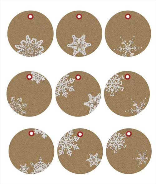 photograph about Printable Kraft Tags identified as No cost Printable Xmas Reward Tags within Kraft Paper Crafts