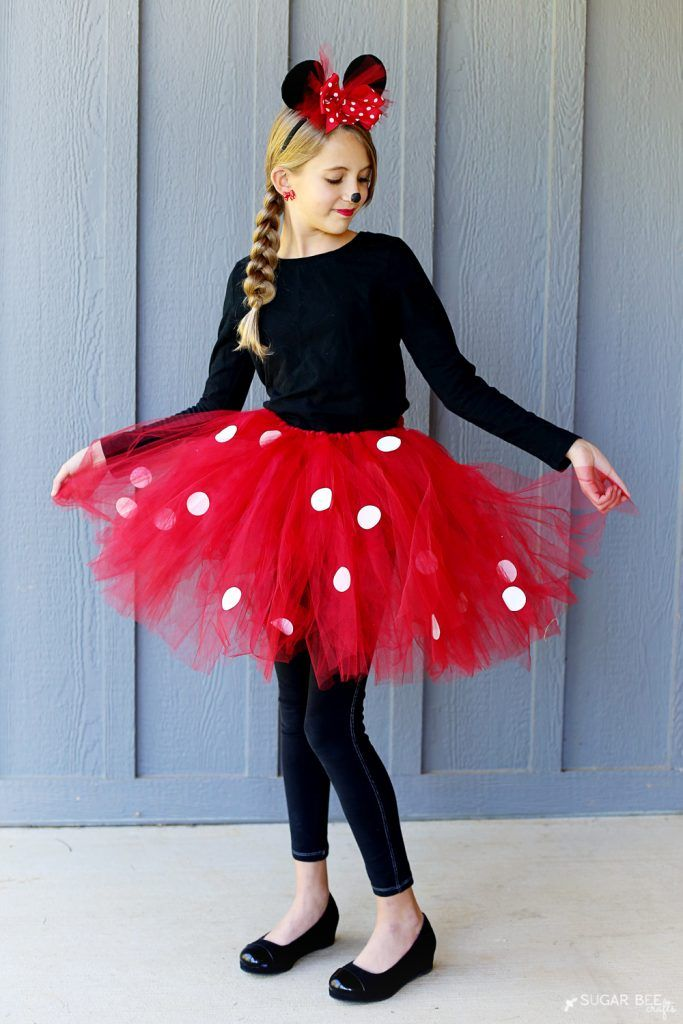 diy minnie mouse costume yep no sew kost m fasching und faschingskost me. Black Bedroom Furniture Sets. Home Design Ideas